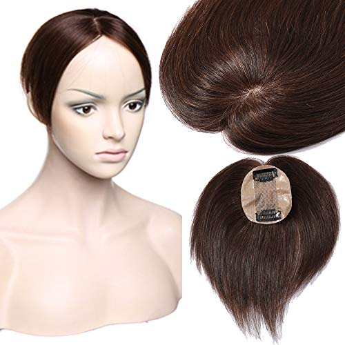 Extension capelli veri 100% human hair toppers clip in silk base toupee fatto a mano una fascia remy lisci hairpiece