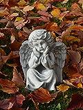 Statue Figurine Ange en en pierre pour jardin figurine au gel Décoration funéraire
