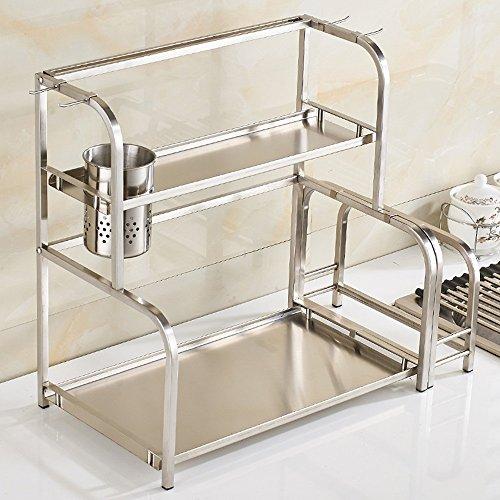 Board Rack Küche Cutting (MENA HOME/ Edelstahl Material Multifunktions-Küche Racks Gewürz Regal, Küche Regal Wand Anhänger Küchenartikel Lagerregal ( Farbe : #1+Cutting Board Rack , größe : 50 cm ))