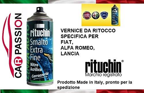 car passion Kit Vernice RITOCCO 595/A 595A Grigio IMPECCABILE Metallizzato Fiat Alfa Romeo Lancia Jeep VERNICIATURA CARROZZERIA Auto BOMBOLETTA Spray 200ml