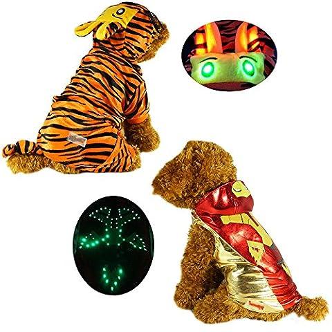 Zehui süsse Haustier Hund Katze Pullover Hündchen - LED Tricks Eisen Kleidung Pet Kostüm für Hunde Puppy (Spiderman Kostüme Designs)