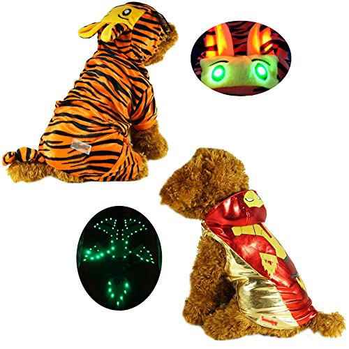 Zehui süsse Haustier Hund Katze Pullover Hündchen - LED Tricks Eisen Kleidung Pet Kostüm für Hunde Puppy dogggie