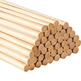 12 Pollice Bastoncino di Bambù Lungo Bastoni Mestiere Bastoni per Progetti Artigianali, 50 Pezzi (1/4 Pollici di Diametro)