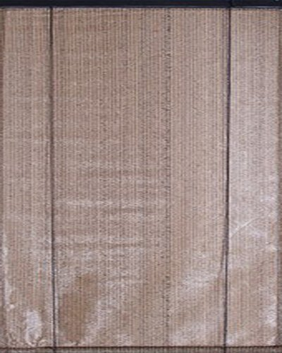 Voile d'ombrage verticale à enrouleur Brun Havane Ajouré en polyéthylène tressé 165 g / m² anti-UV, 100 x 180 cm -PEGANE-