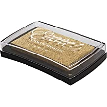 Rayher Hobby Encore Pigment-Stempelkissen, Kunststoff, Gold 9.4 x 6.6 x 2 cm