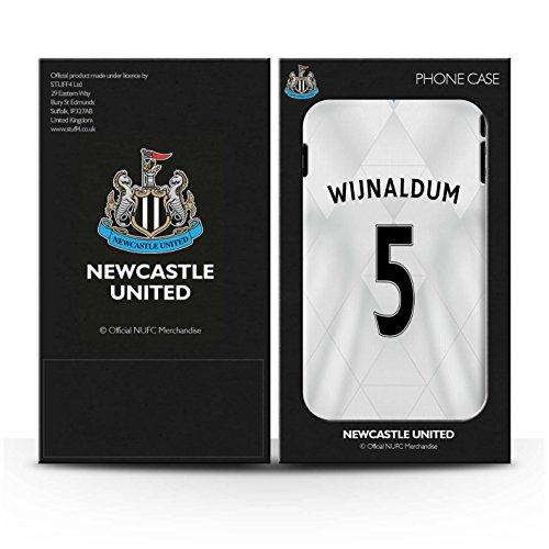 Offiziell Newcastle United FC Hülle / Glanz Snap-On Case für Apple iPhone SE / Janmaat Muster / NUFC Trikot Away 15/16 Kollektion Wijnaldum