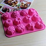 Hanseatic Consumables 12er Mini Muffin Backform | Teesemmel | Törtchenform | Pralinienform | Schokoladenform | Kekse | 25x17x2cm | Antihaftbeschichtet | BPA freies Lebensmittelsilikon | Geschmackneutral
