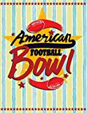 American Football Bowl: Quad Ruled 5x5 Graph Paper Notebook (5 squares per inch) - Large 8.5' x 11' - 120 sheets (Football Notebooks, Band 5)