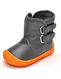 SAGUARO® Zapatos de bebé Niño Invierno Botas de Nieve Niñas Suela de goma botas Talla:18-24 meses para Los Reyes Magos