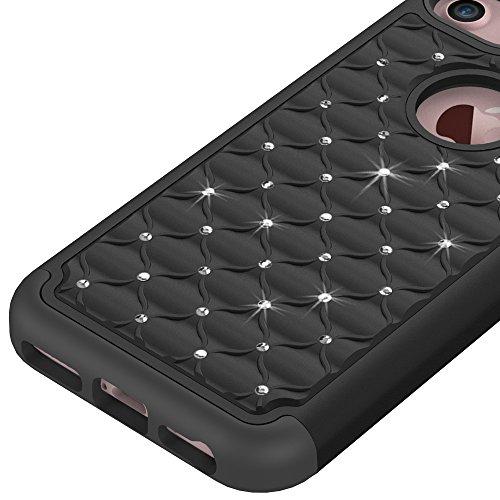 Voguecase® Pour Apple iPhone 7,2 in 1 Bling TPU hybride Rigide Plastique Shell Housse Coque Étui Case Cover(Pink) de Gratuit stylet l'écran aléatoire universelle Noir