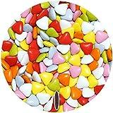EinsSein® 500g Schokoherzen Mix ca 570 St. Hochzeitsmandeln Gastgeschenke Hochzeit schokolade kleine schokolinsen dragees dunkle Taufe herz candy bonboniere Hochzeitsmandeln schokoladen herzdragees Candy Bar