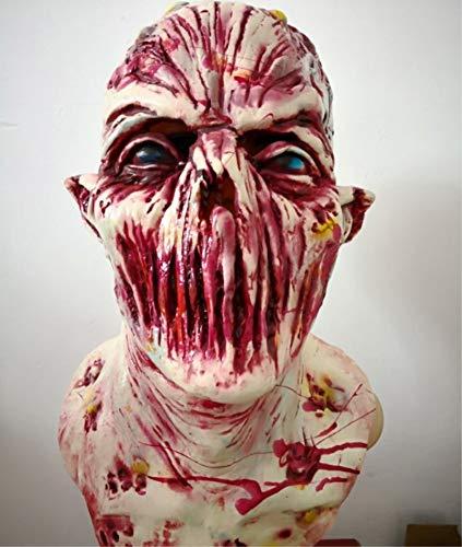 SN86NS Halloween Erwachsenen COS Latexmaske Horror blutrünstige Perücken Film- und Fernsehanimation lustige Haunted House Requisiten Realistische Maskerade Halloween-Maske