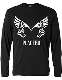 Herren Langarmshirt - Placebo - white print - Long Sleeve 100% Baumwolle LaMAGLIERIA
