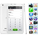 Cube Talk 7X 3G Tablet PC MTK8312 Quad-core 7 Inch Android 4.2 4GB Monster Phone White
