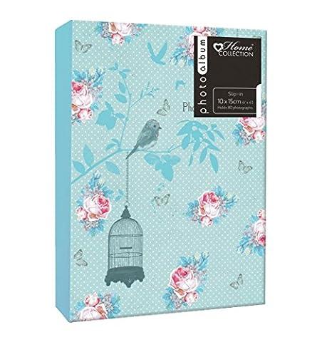 Anker Cage à oiseaux Motif floral en PP vie Album photo/Photo Albums pour s'adapter à 804photos 10x 15cm