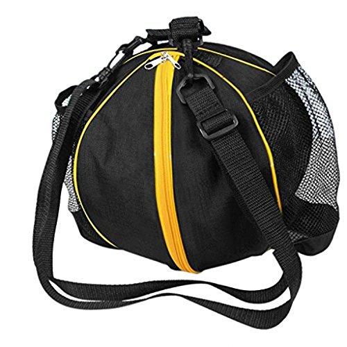 fvstar Borsa Borsa Borsa di basket, calcio, pallavolo, impermeabile custodia con tracolla regolabile, Black&Yellow