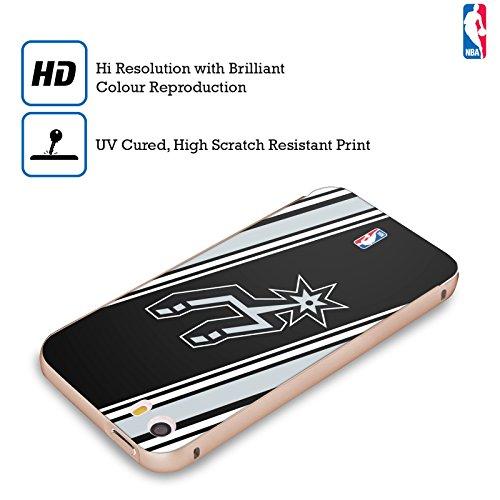 Ufficiale NBA Rovinato San Antonio Spurs Oro Cover Contorno con Bumper in Alluminio per Apple iPhone 5 / 5s / SE Righe