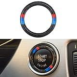 Auto Motor Start Stop Zündschlüssel Ring Aufkleber Zubehör Kohlefaser Deko Ring für E90 E92 E93 2005–2012