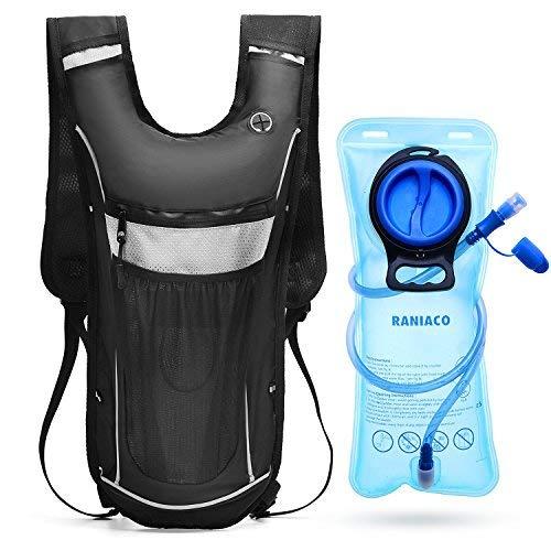 RANIACO Sportrucksack mit 2L Trinkblase, ultraleichter Fahrradrucksack geeignet für Kletter, Wander und Fahrradtouren -