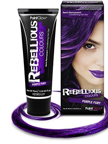PaintGlow Temporäre Haarfarbe violett 70ml Einheitsgröße