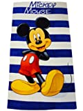 Mickey Mouse Stripe Handtuch - 100% Baumwolle