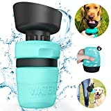 Portable Dog Water Bottle Bowl,Upgraded 2 in 1 Drinking Cup Dispenser for Pets with 2 Collapsible Bowls,Leakproof Pet Water Bottle Foldable Food Bowl for Dog Cat Outdoor Travel Walking 520ml BPA Free