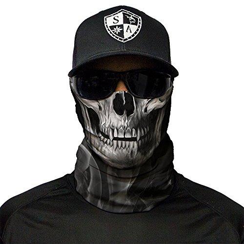 SA Company Face Shield Blau Schwarz Sturmhaube Multiunktionstuch Maske Fishing Totenkopf (Skull Tech Crow)
