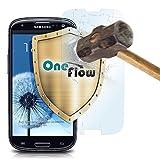 OneFlow Cristal extrafuerte antirreflejos para Samsung Galaxy S3 / S3 Neo Lámina extrafuerte para cristal   Lámina protectora de pantalla de vidrio auténtico  El mejor ajuste y la protección óptima