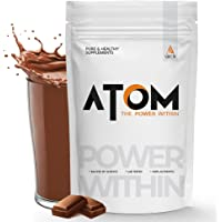 AS-IT-IS Atom Whey Protein 1kg with Digestive Enzymes   Double rich chocolate   27g protein   5.7g BCAA   Lab Tested