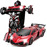 #7: The Flyers Bay One Button Transforming Car into Robot with Cool Dance Features - Lamborghini, Orange