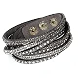 Damen Strass Armand Wickelarmband