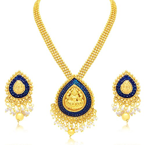 South Indian Traditional Wedding Jewellery Set Laxmi Temple Gold Plated Necklace Set for Women Designer Heavy Ethnic Jwellery Set