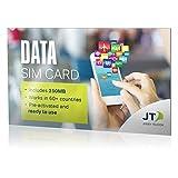 Carte SIM de données LTE ekit International avec 250 Mo de crédit - à utiliser dans plus de 60 pays
