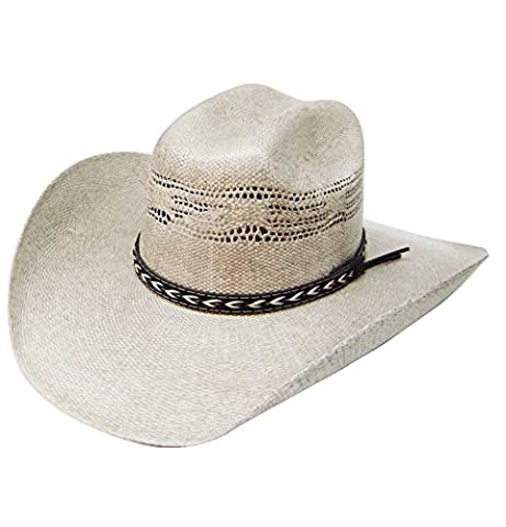 Modestone Traditional Bangora Rodeo Straw Chapeaux Cowboy Beige