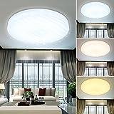 VGO® 12W LED Wellig Sternenhimmel Deckenleuchte Mit Farbwechselfunktion 3in1 Wohnzimmer Deckenbeleuchtung Badezimmer geeignet