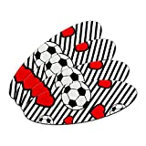 Soccer Love Double-Sided Oval Nail File Emery Board Set 4 Pack