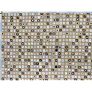 Walter Kern Polsterstoff Deko-Stoff Meterware Mombasa beige Trendiger Stoff im Retro-Look mit Mosaik-Muster 140 cm breit