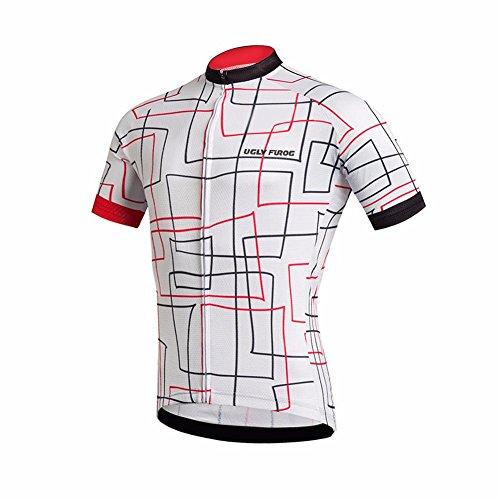 Uglyfrog Herren Radtrikot Top Kurzarm Schnelltrocknend Atmungsaktiv Fahrradbekleidung (Tops sind separat erhältlich)
