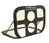 BFussballtor, pop-up Fussballtor mit Zielnetz, nomad Fussballset, aussen, tragbar, schwarz und gelb