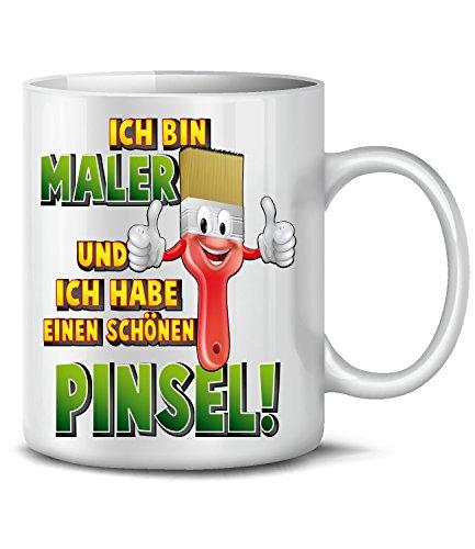 Golebros Ich Bin Maler Handwerker Beruf Baustelle Arbeit Job Tasse Becher Kaffee Geburtstags Geschenk Idee Mug Pott Artikel zubehör Lackierer