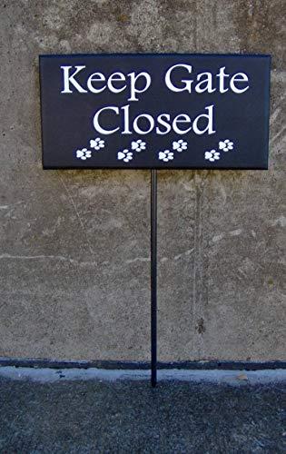 CPWood Schild mit Aufschrift Keep Gate Closed, Vinyl, für den Außenbereich, Hundeschild, Haustier, Hundedekoration, Tor, Zaunschild, Gartenschild