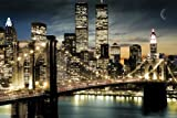 Empire 173010 Nueva York - Póster de los Rascacielos por la Noche (91,5 x 61 cm)