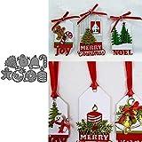 kimiLike - Plantilla para troqueladora, diseño de árbol de Navidad, para Scrapbooking, Papel fotográfico, Tarjetas y Manualidades