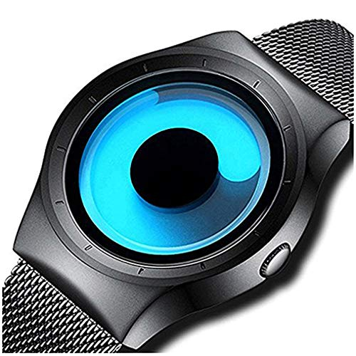 MICACCHI Swift Movement Blue Spinner Dial Black Shepard Metal Belt Men's and Boy's Watch
