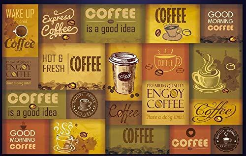 YUANLINGWEI Benutzerdefinierte Wandbild Tapete Personalisierte Nostalgische Kaffeetasse Kaffeebohnen...