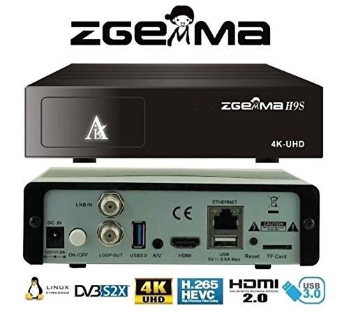 H9S 4K UHD Satellite Receiver DVB-S2X HEVC   H 26 QT Stalker