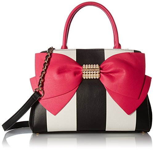 betsey-johnson-pearl-of-a-girl-bow-satchel-stripe-fuchsia