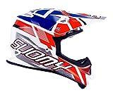 Suomy Casque Moto Cross MR Jump, Blanc/Rouge/Bleu, S