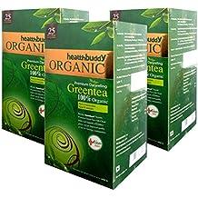 healthbuddy 100% Organic Green Tea - 3 packs of 25 tea bags each (3.00)