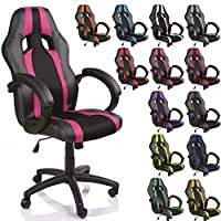 Executive Office Chair Swivel Bucket Racing Sport Seat different colors